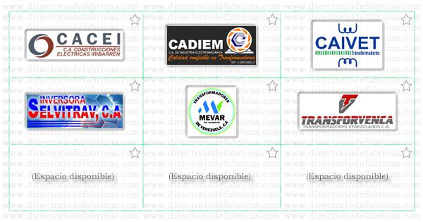 Muro con logotipos de Fábricas de Transformadores ubicadas en Venezuela